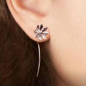 Silver Threader Daisy Earrings